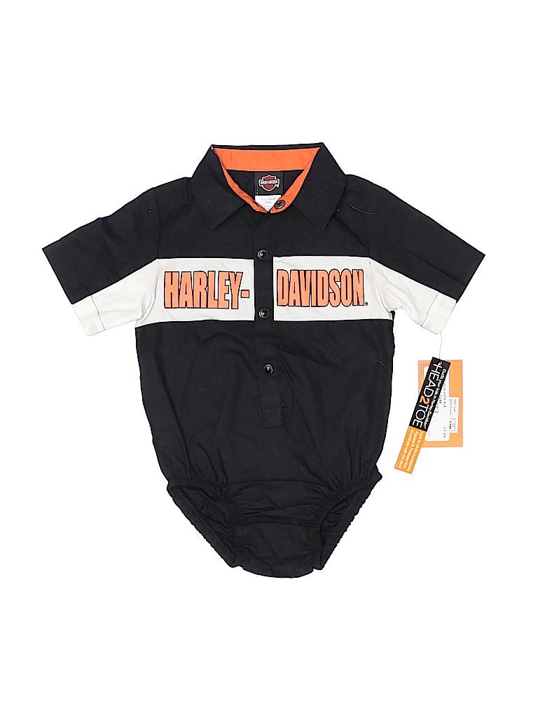 Harley Davidson Boys Short Sleeve Onesie Size 12 mo
