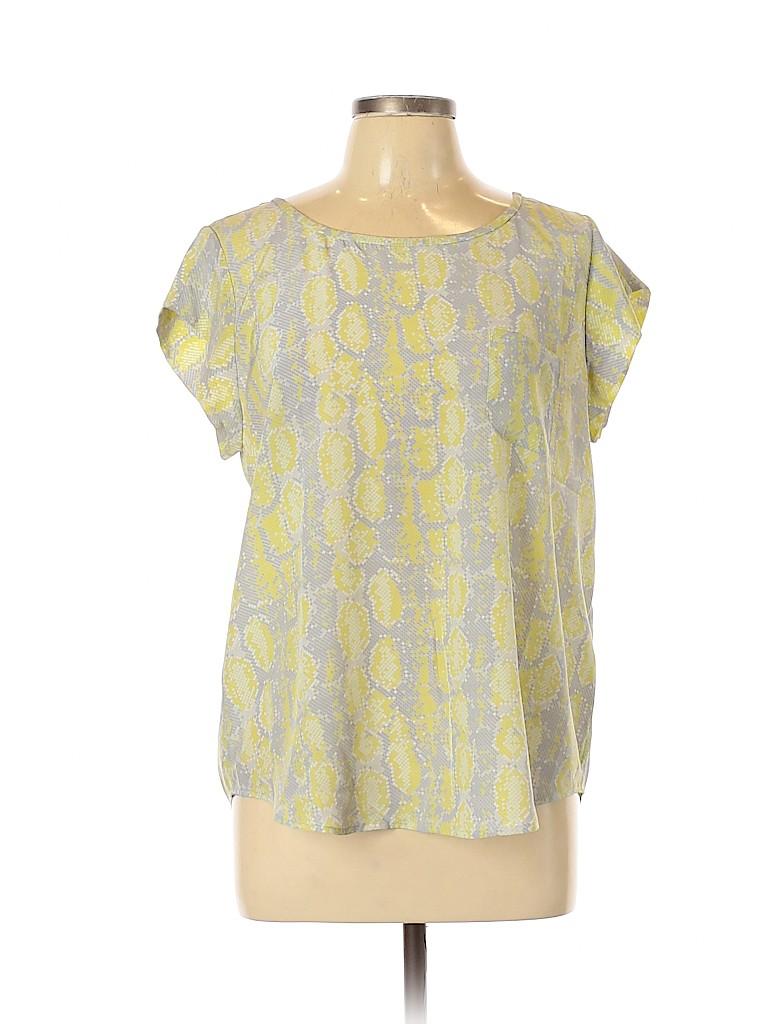 Joie Women Short Sleeve Blouse Size L