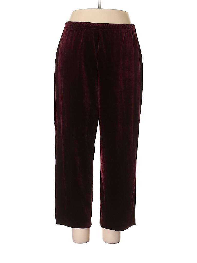 Sport Savvy Women Velour Pants Size 1X (Plus)