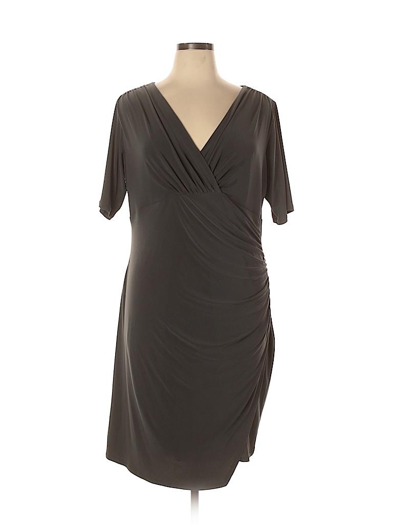 Evan Picone Women Casual Dress Size 16 (Plus)
