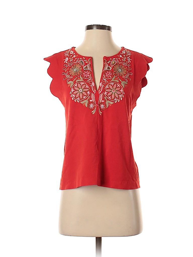 Akemi + Kin Women Short Sleeve Blouse Size S