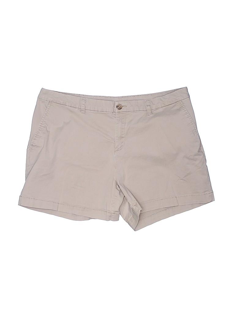 Faded Glory Women Khaki Shorts Size 18 (Plus)