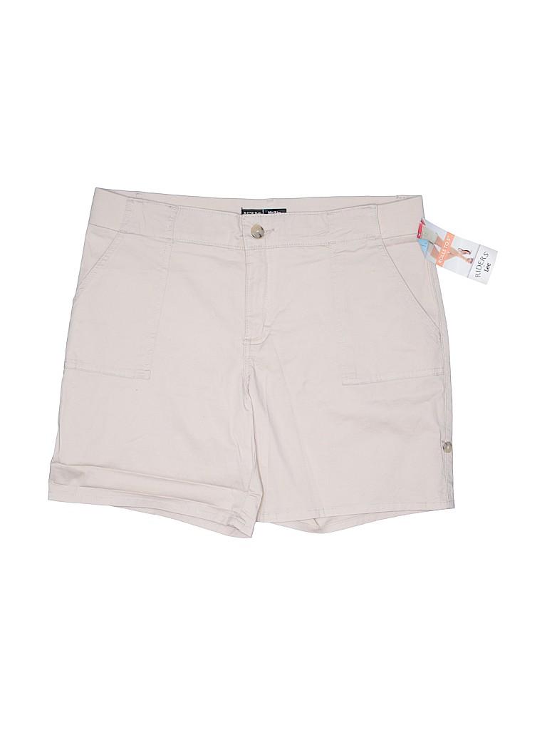 Riders by Lee Women Khaki Shorts Size 16