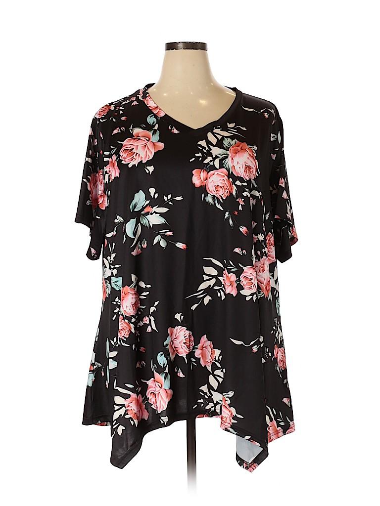Unbranded Women Short Sleeve Top Size 5X (Plus)