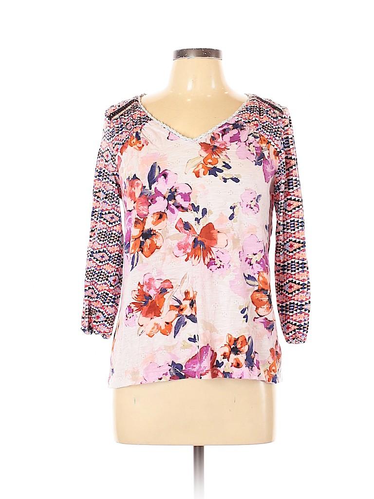 Akemi + Kin Women 3/4 Sleeve Blouse Size L