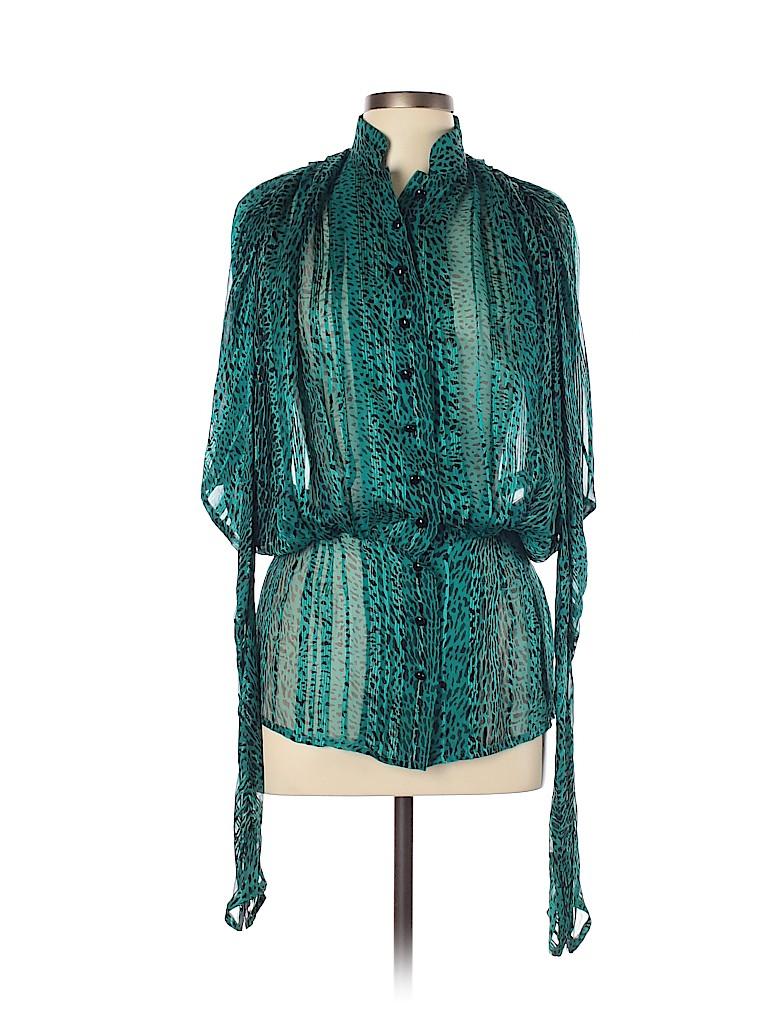 Nina Ricci Women 3/4 Sleeve Silk Top Size 10