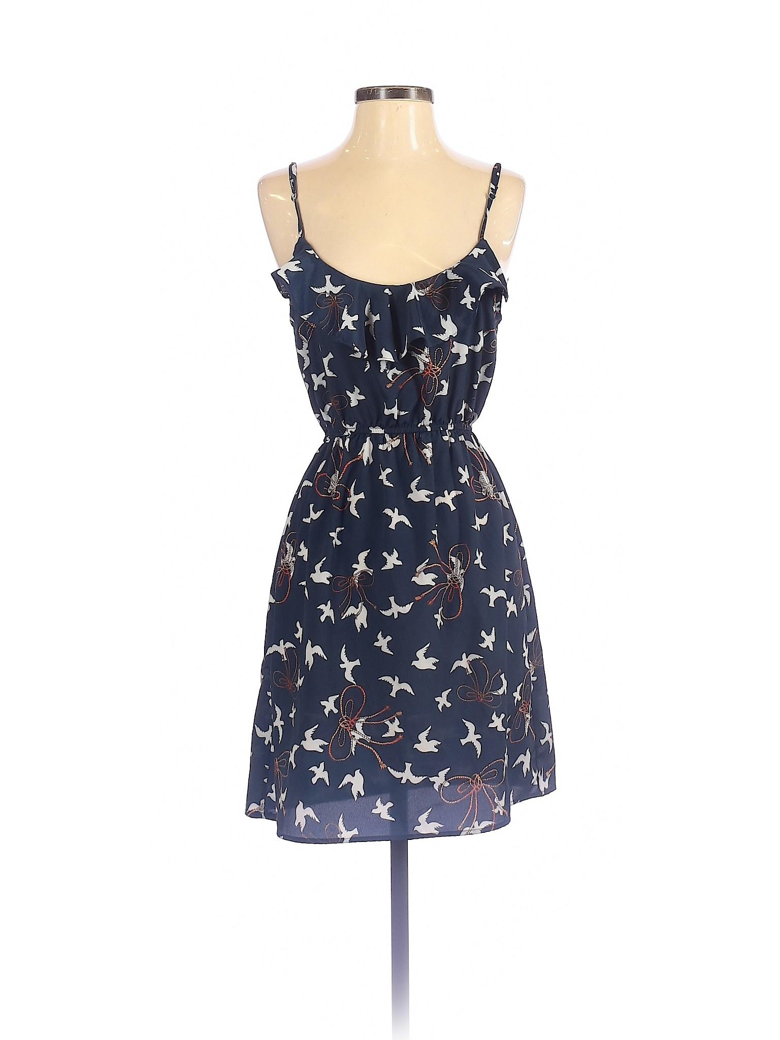 Gb Gianni Bini Women Blue Casual Dress S Ebay