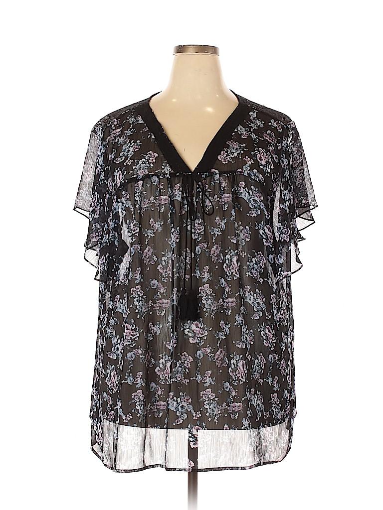 Torrid Women Short Sleeve Blouse Size 5X Plus (5) (Plus)