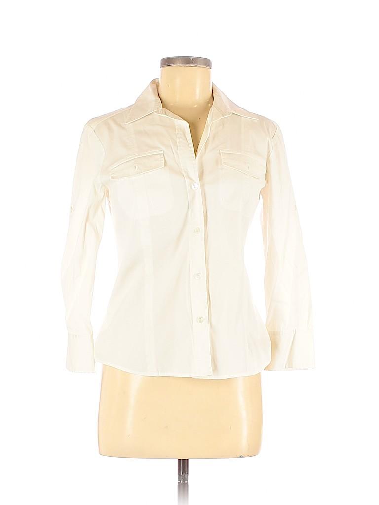 Theory Women 3/4 Sleeve Button-Down Shirt Size M