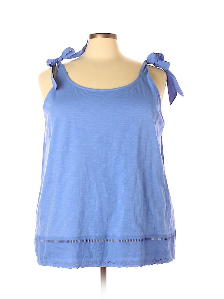 Molly & Isadora Women Sleeveless Top Size 4X (Plus)