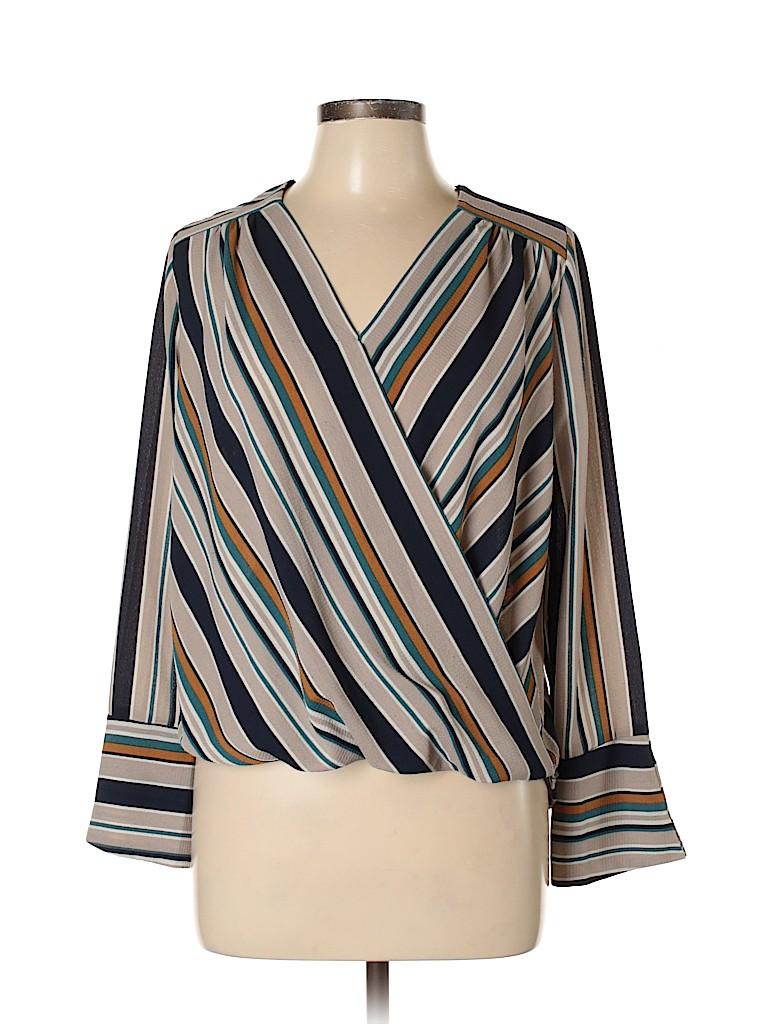 Monteau Women Long Sleeve Blouse Size L