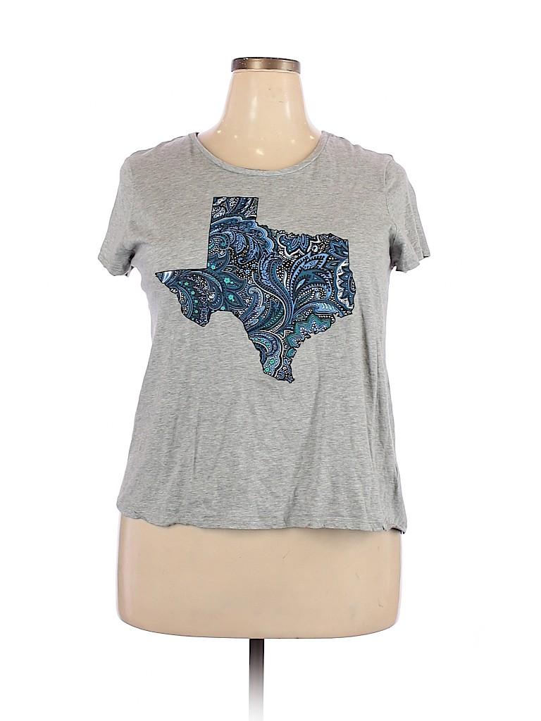 C established 1946 Women Short Sleeve T-Shirt Size 18 (Plus)