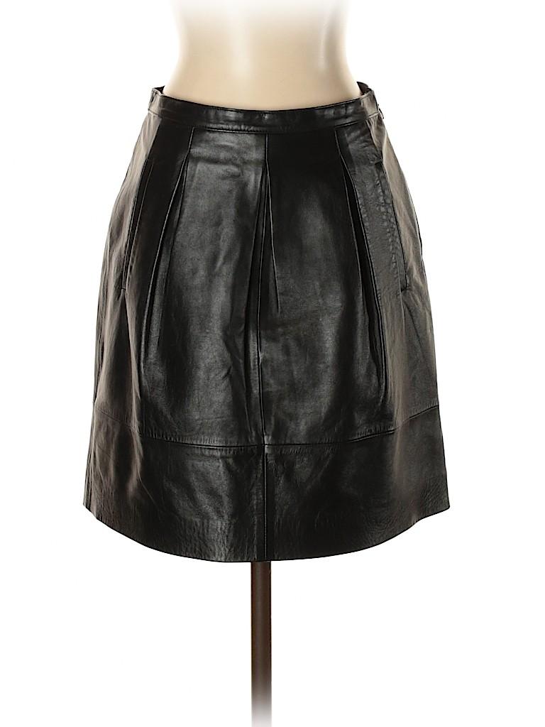 J. Crew Women Leather Skirt Size 00