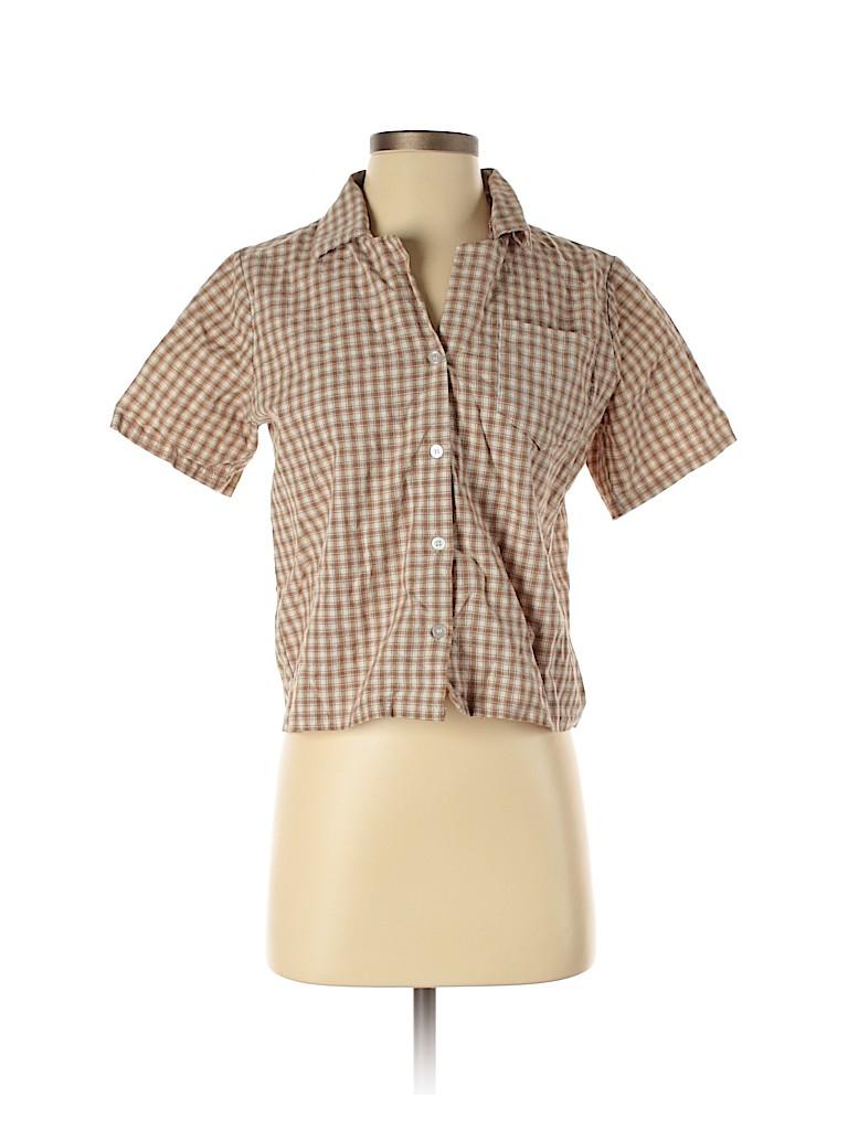 Oak + Fort Women Short Sleeve Blouse One Size