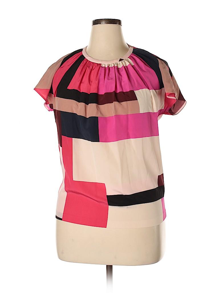 Kate Spade New York Women Short Sleeve Silk Top Size 14