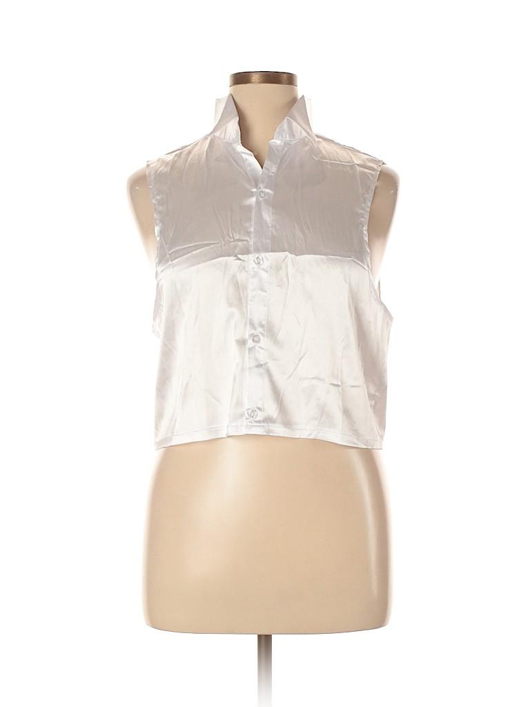 Unbranded Women Sleeveless Button-Down Shirt Size XL