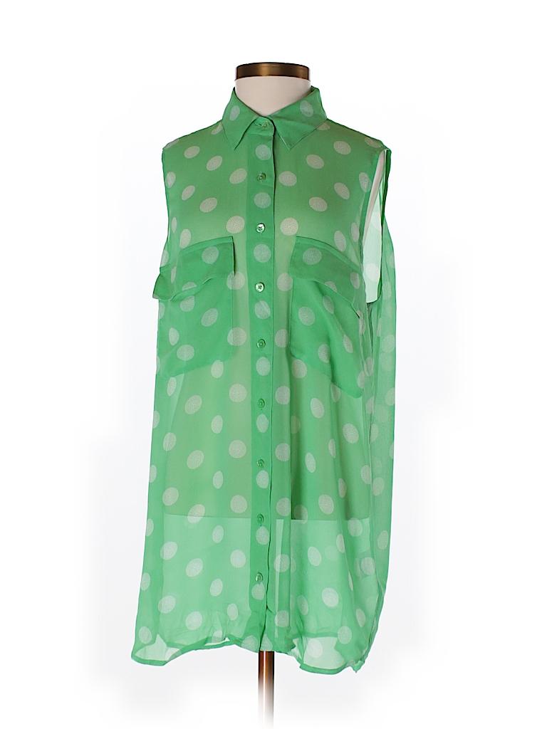 Equipment Women Sleeveless Silk Top Size XS