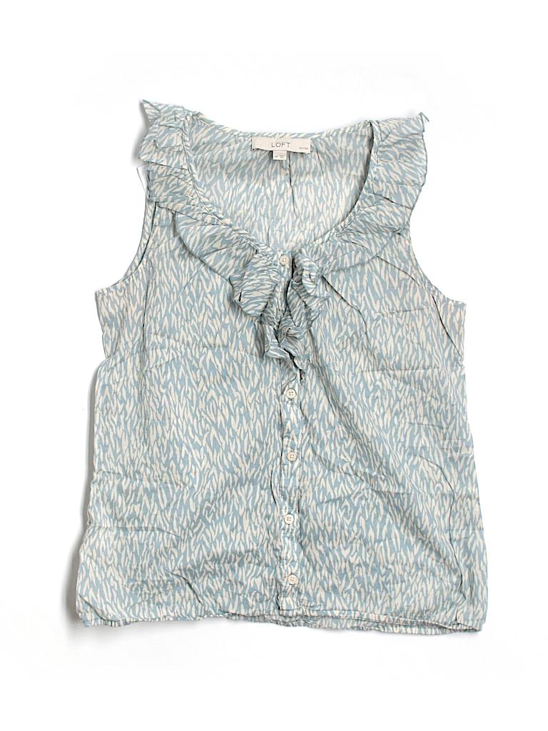 Ann Taylor LOFT Women Sleeveless Blouse Size M (Petite)
