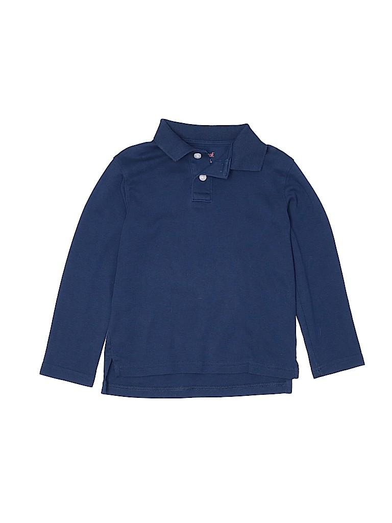 Cat & Jack Boys Long Sleeve Polo Size 4