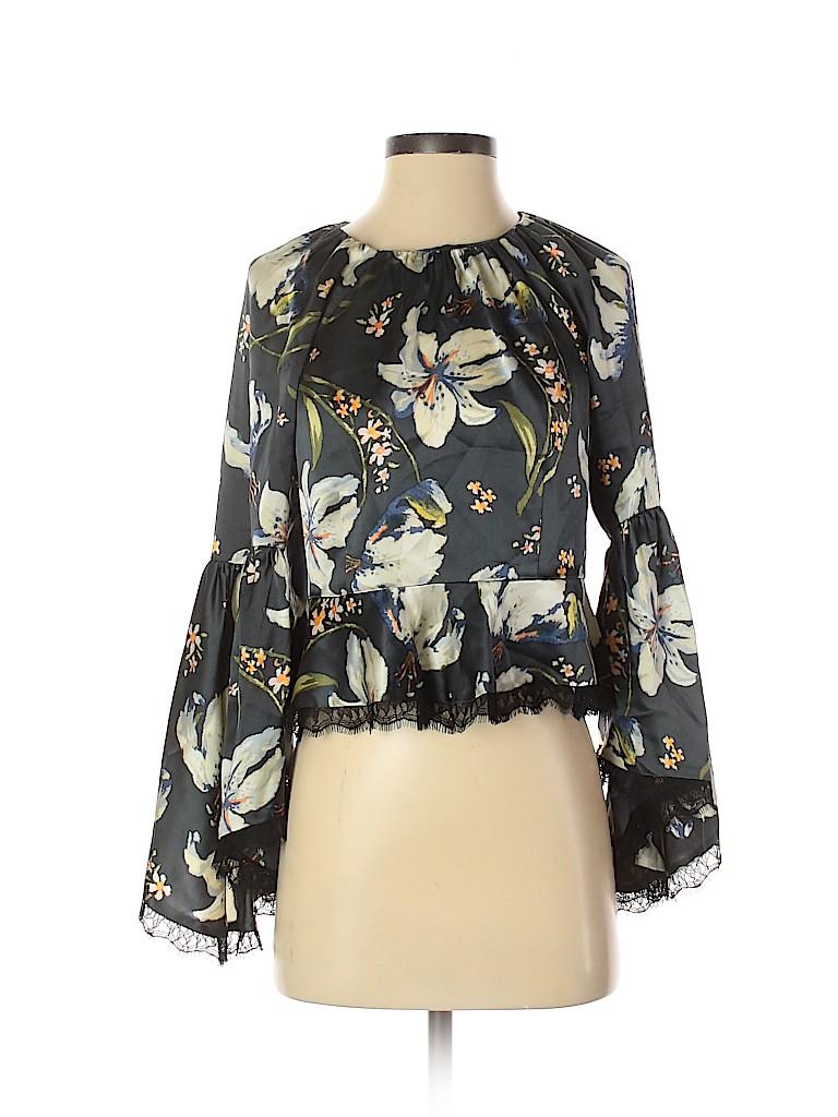 Cinq à Sept Women Long Sleeve Silk Top Size XS