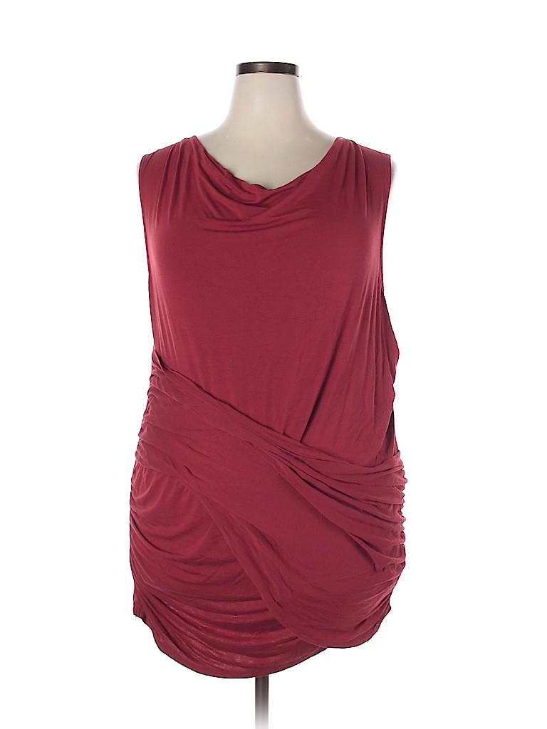 ELOQUII Women Sleeveless Top Size 24 (Plus)
