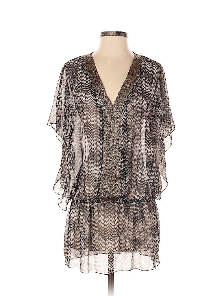 Badgley Mischka Women Short Sleeve Blouse Size S