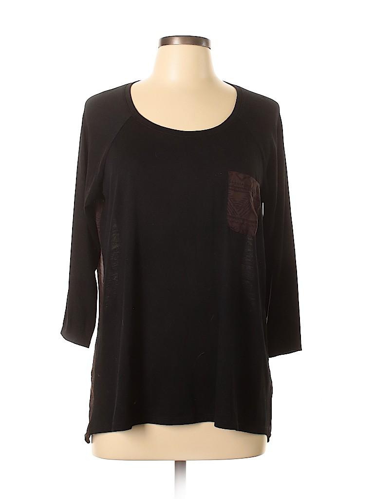 Charming Charlie Women 3/4 Sleeve T-Shirt Size L