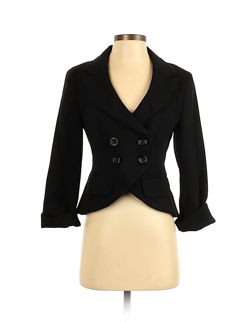 Body By Victoria Women Wool Blazer Size 2