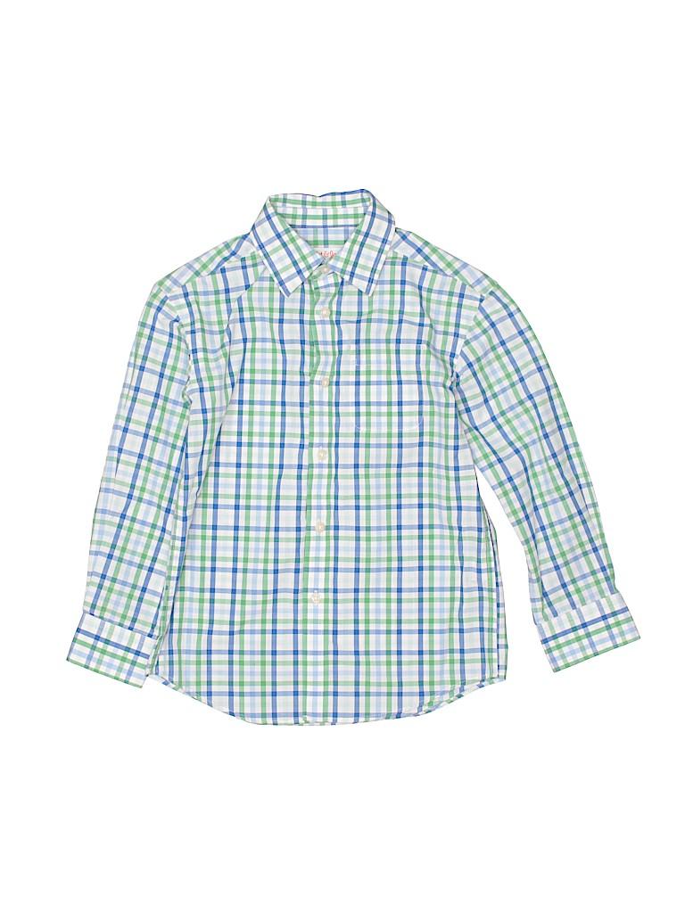 Cat & Jack Boys Long Sleeve Button-Down Shirt Size 4 - 5