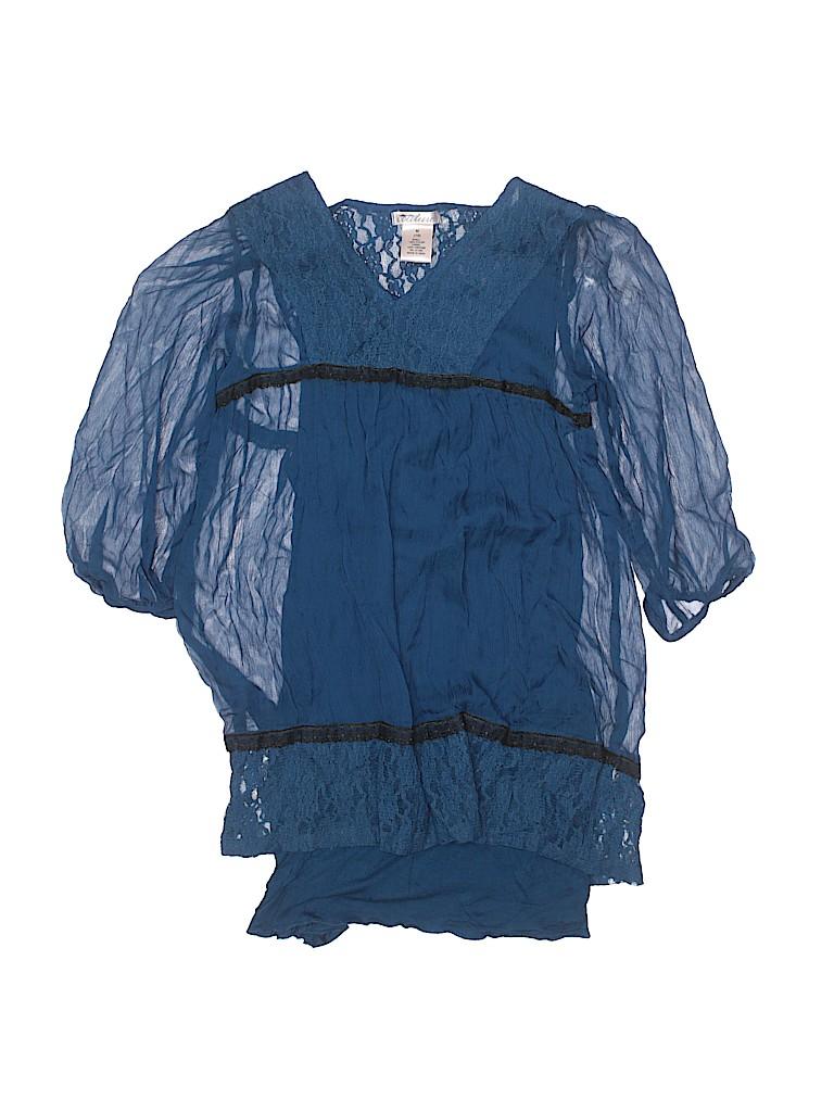 Sally Miller Girls 3/4 Sleeve Blouse Size M (Kids)