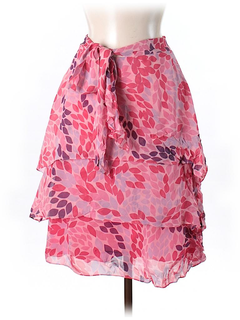 Tibi Women Silk Skirt Size 6