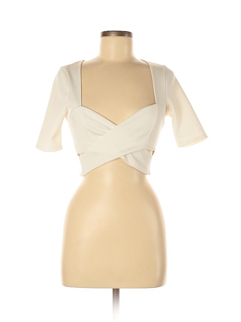 Solemio Women Short Sleeve Top Size M