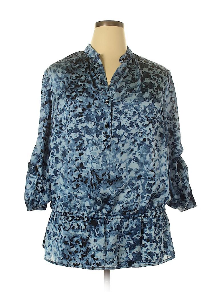 MICHAEL Michael Kors Women 3/4 Sleeve Blouse Size 1X (Plus)