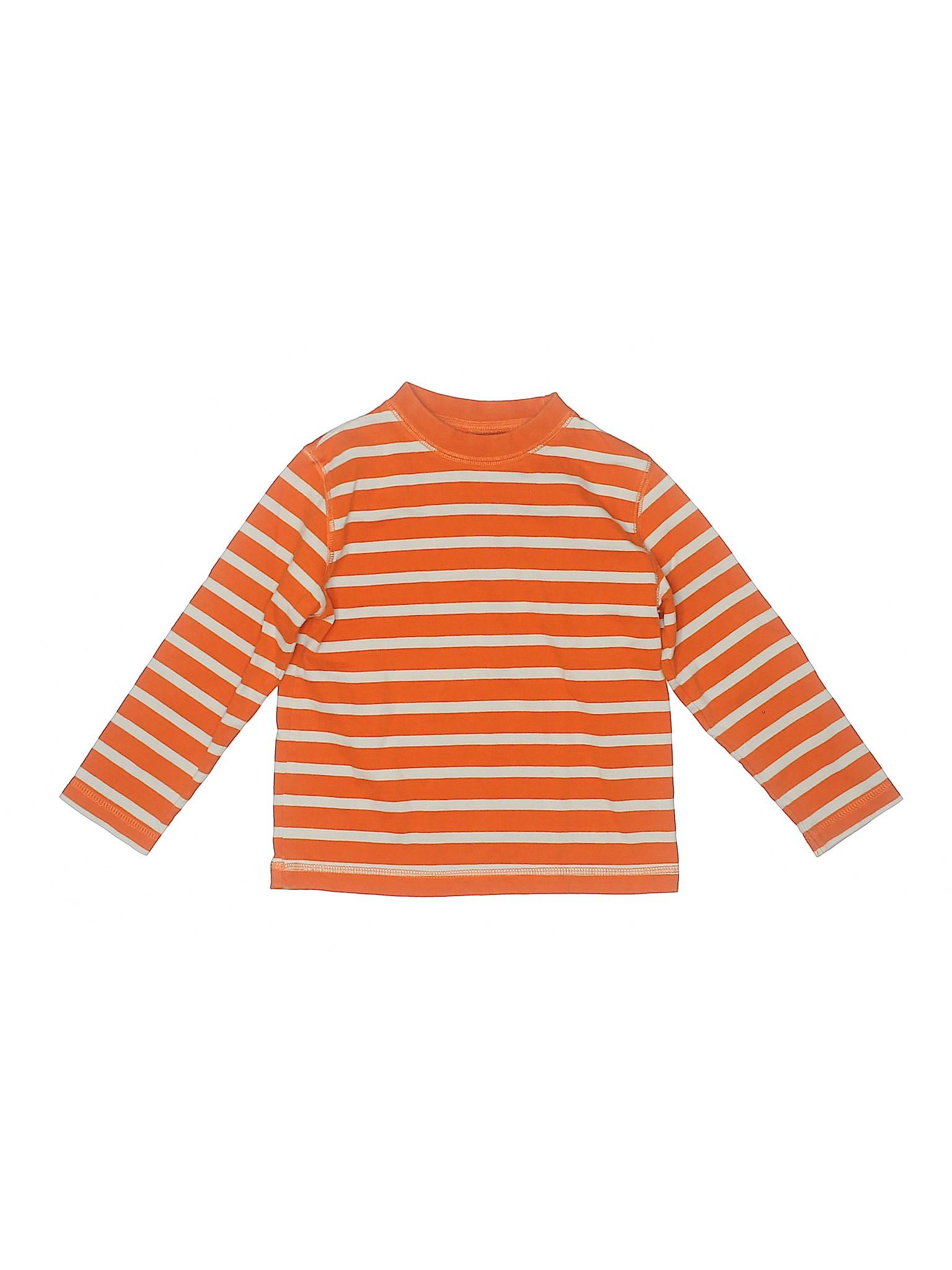 Topomini Infant/'S ORANGE LION l//s pull over Sweater