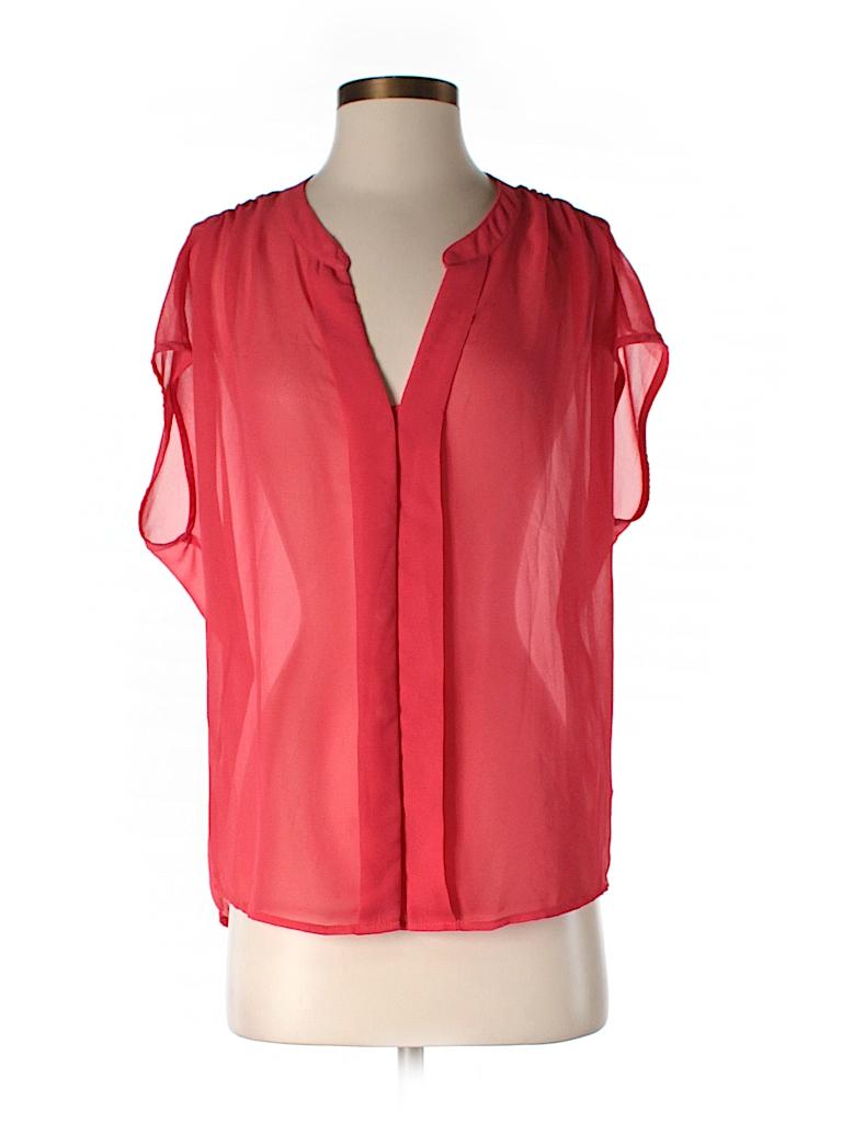 Red Haute Women Short Sleeve Blouse Size S