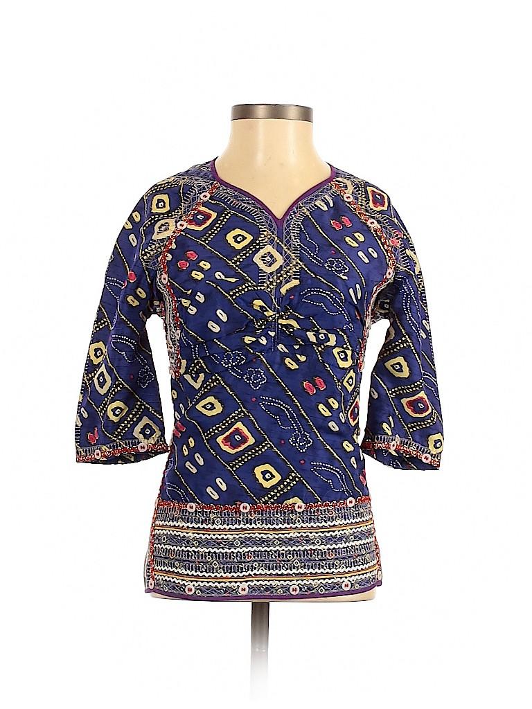Isabel Marant Women 3/4 Sleeve Silk Top Size 36 (FR)