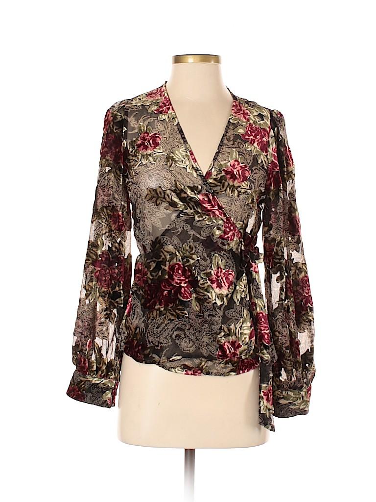 Zara Women Long Sleeve Top Size XS
