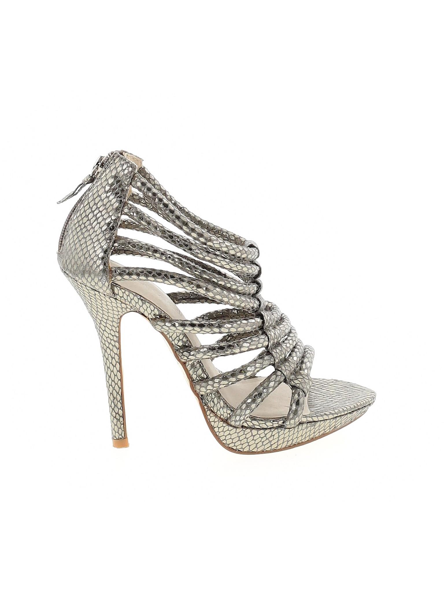 Shoedazzle Women Silver Heels Us 5 1 2 Ebay