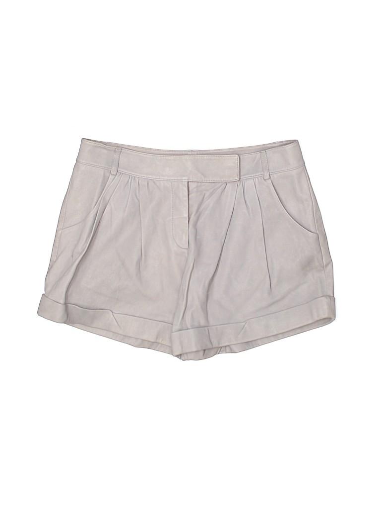 Diane von Furstenberg Women Leather Shorts Size 6