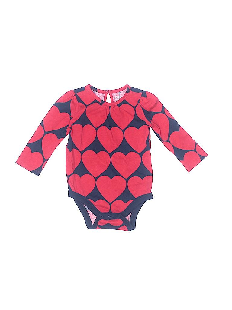 Baby Gap Girls Long Sleeve Onesie Size 6-12 mo