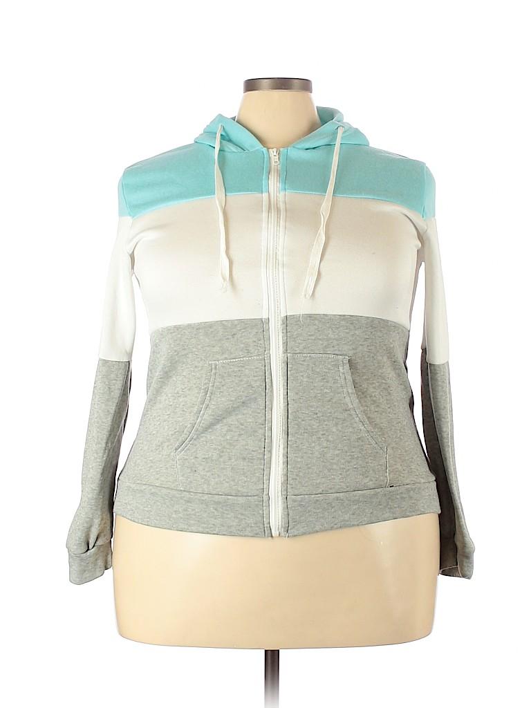 Unbranded Women Zip Up Hoodie Size 3X (Plus)
