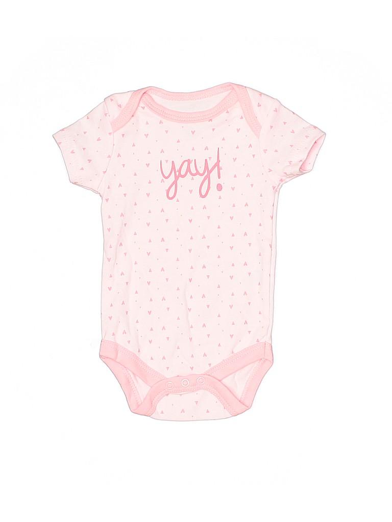 Assorted Brands Girls Short Sleeve Onesie Size 0-3 mo