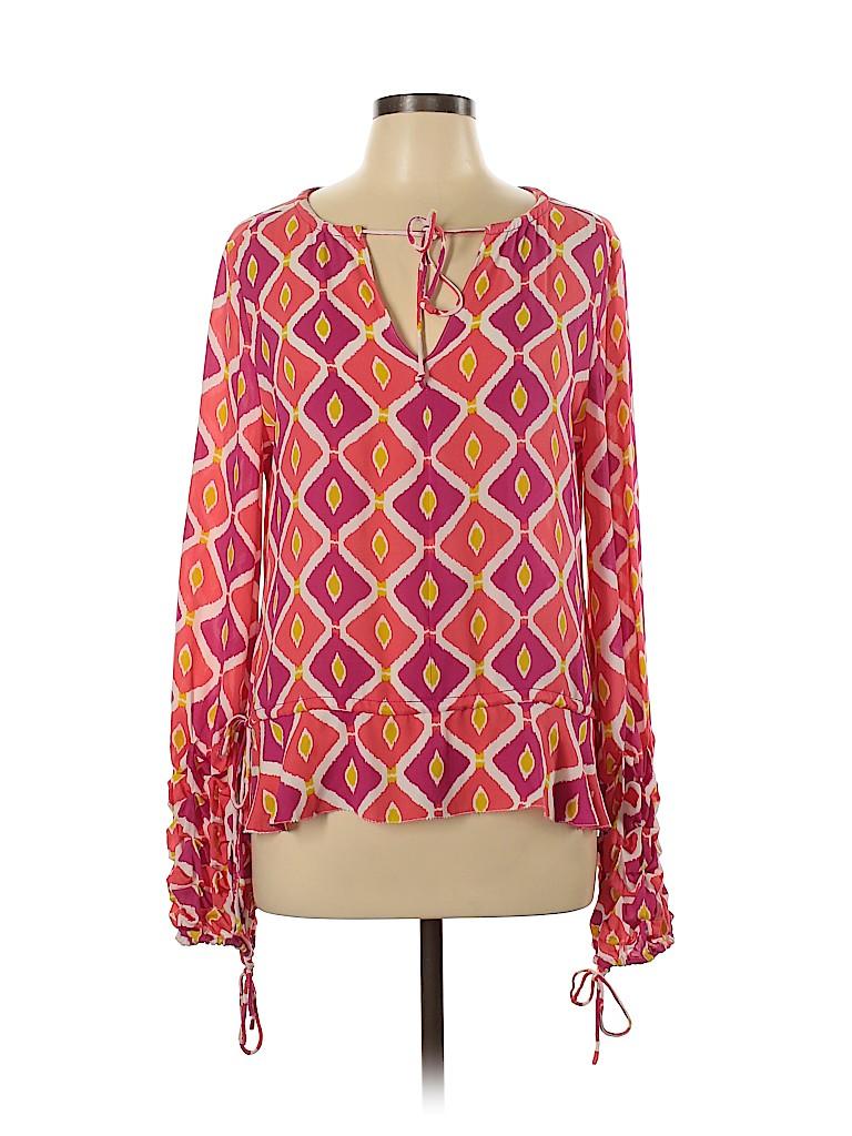Tory Burch Women Long Sleeve Silk Top Size 12