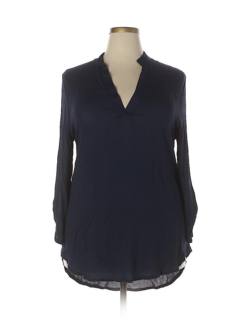 Unbranded Women 3/4 Sleeve Blouse Size 3X (Plus)