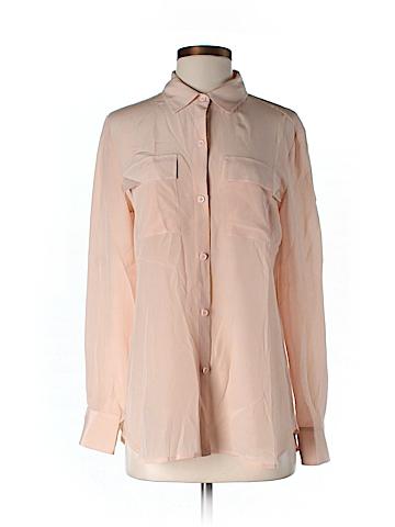 Moda International Long Sleeve Silk Top Size S