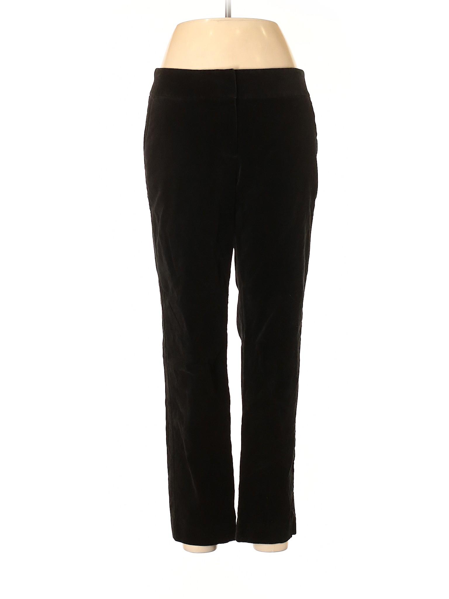 Ann Taylor Loft Pantalones De Terciopelo Negro De Mujer 8 Ebay