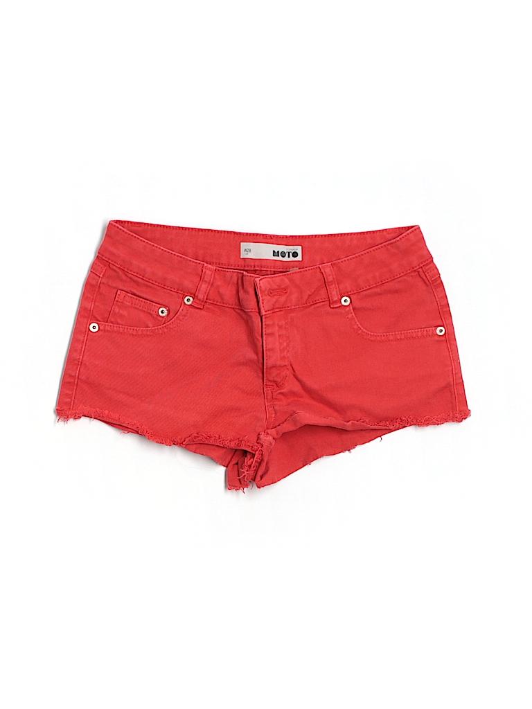 Topshop Women Denim Shorts 28 Waist