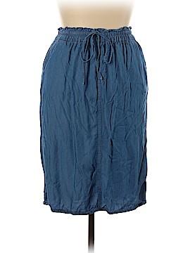 JUNEE JR GIRLS DESIGNER BLUE DENIM JEANS DRESS SIZE 16 XL