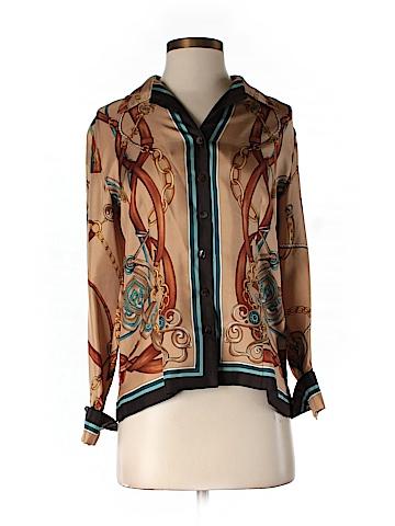 Dana Buchman Long Sleeve Silk Top Size 4
