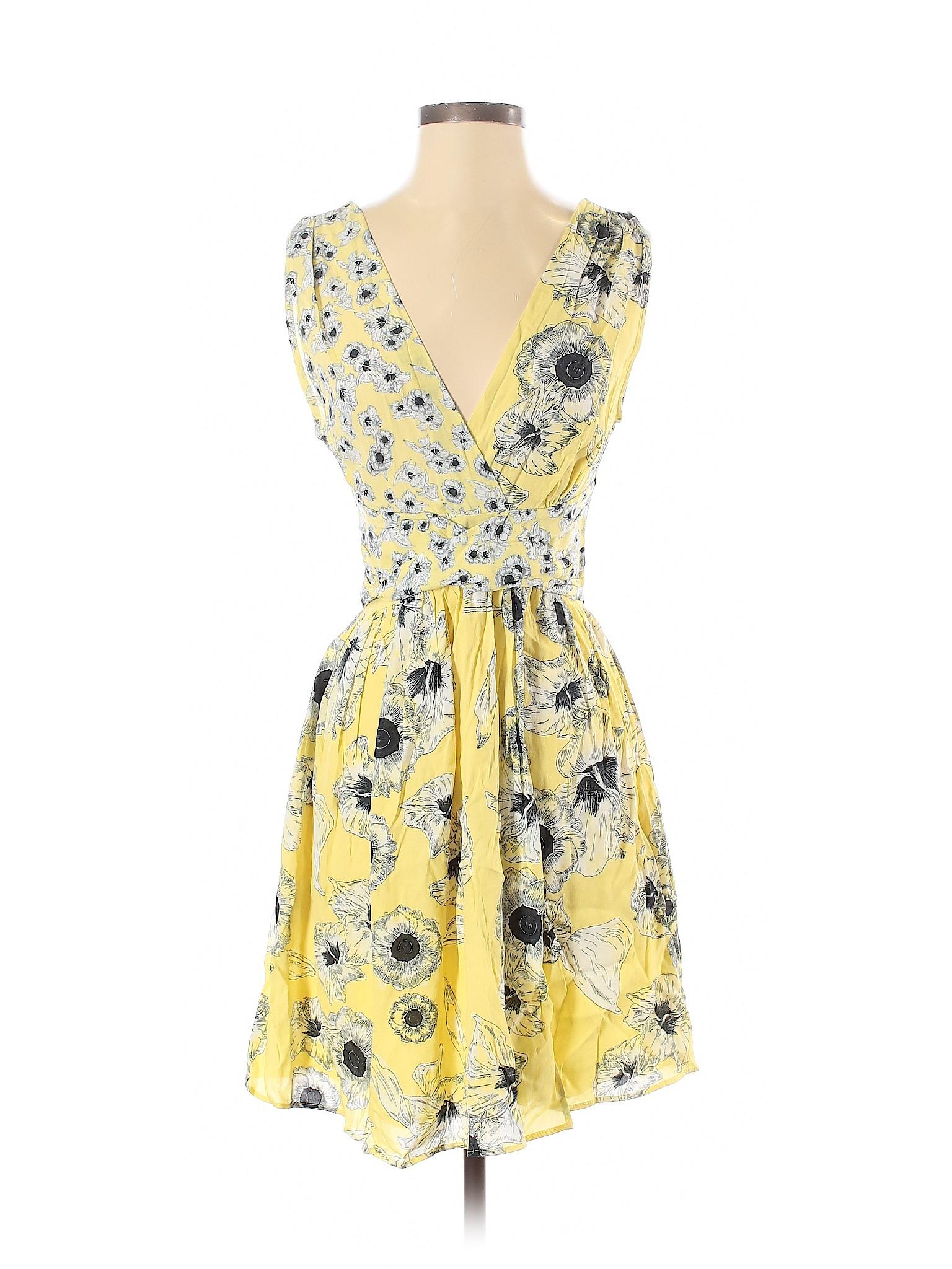 Zara Basic Women Yellow Casual Dress S   eBay